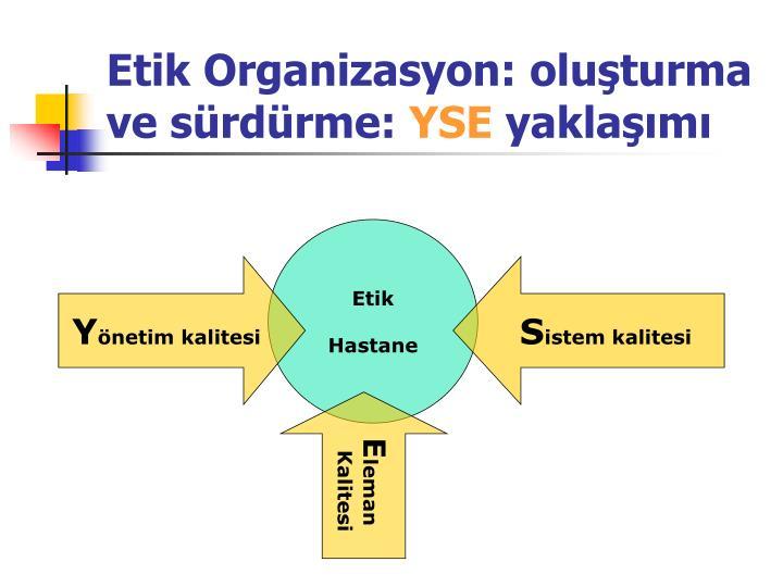 Etik Organizasyon: oluşturma ve sürdürme: