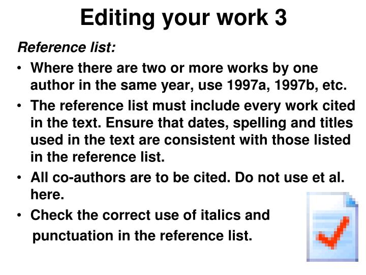 Editing your work 3