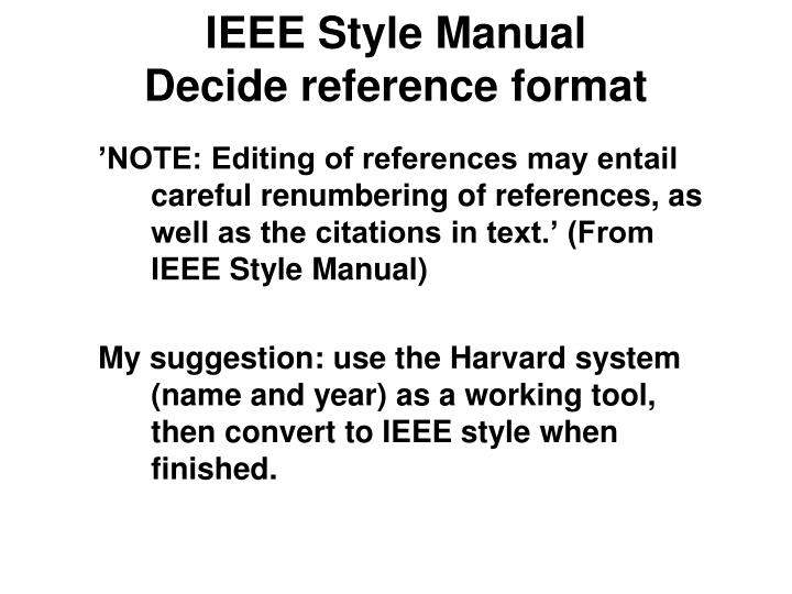 IEEE Style Manual