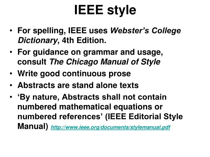 IEEE style