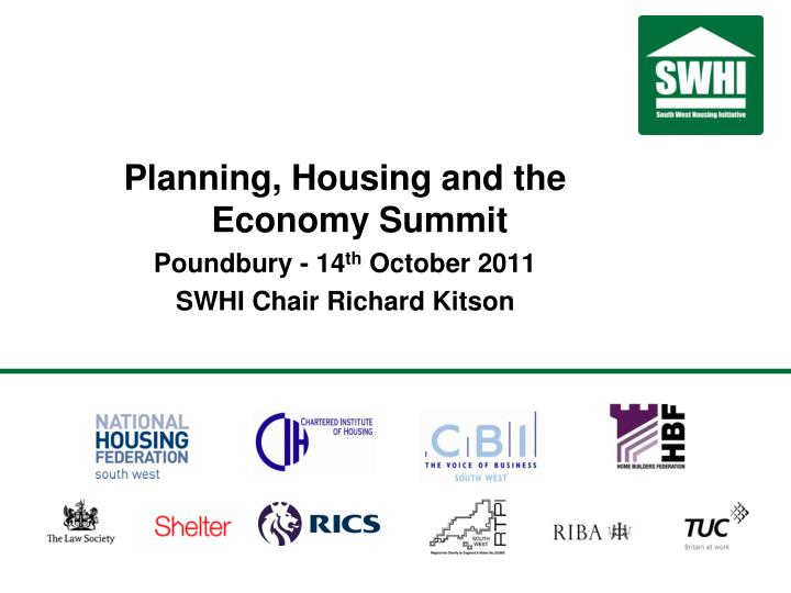 Planning, Housing and the Economy Summit