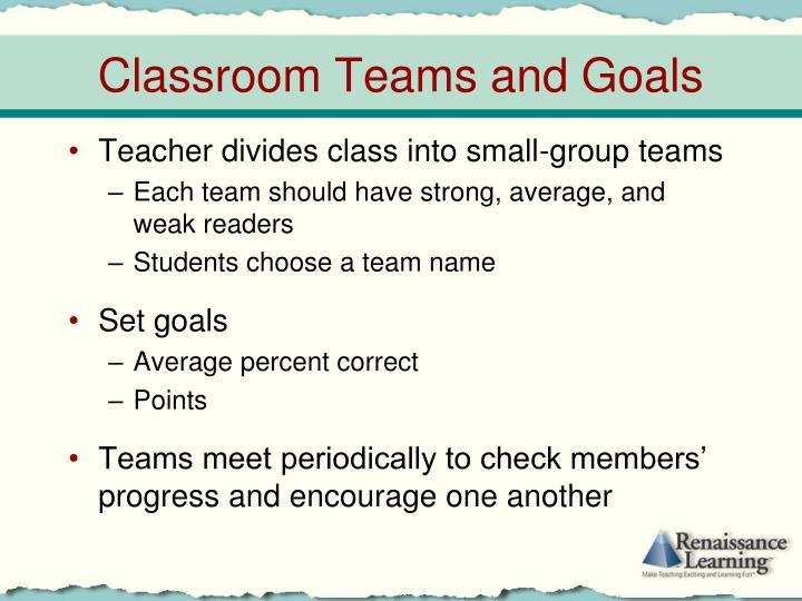 Teacher divides class into small-group teams