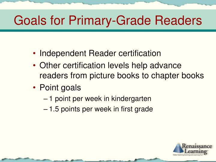Independent Reader certification