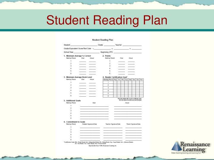 Student Reading Plan