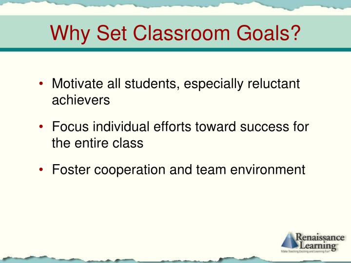 Motivate all students, especially reluctant achievers