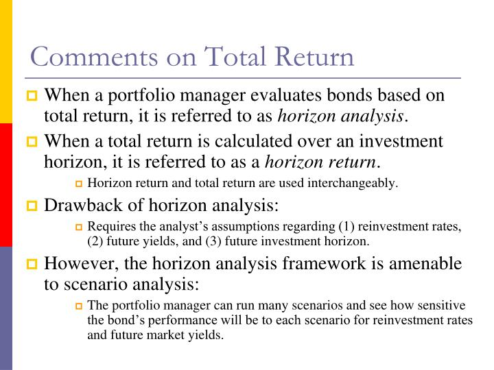 Comments on Total Return