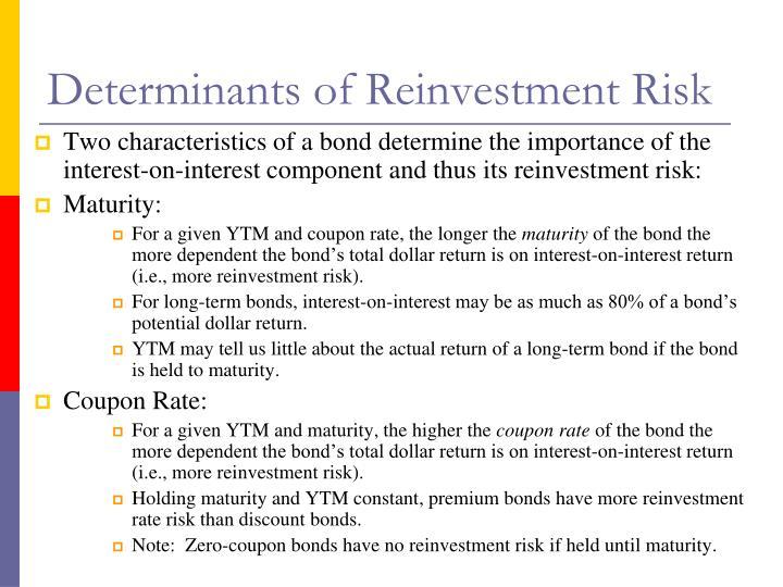 Determinants of Reinvestment Risk