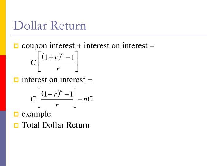 Dollar Return