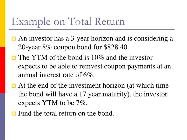 Example on Total Return
