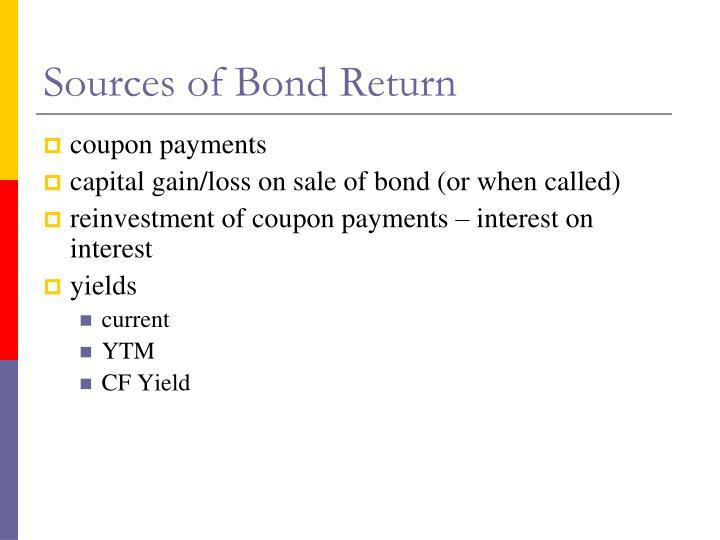 Sources of Bond Return