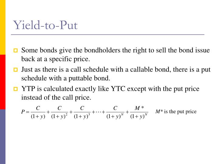 Yield-to-Put