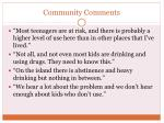 community comments