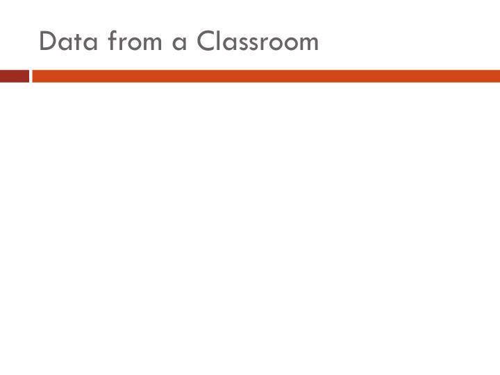 Data from a Classroom
