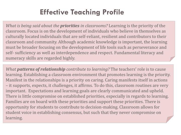 Effective Teaching Profile