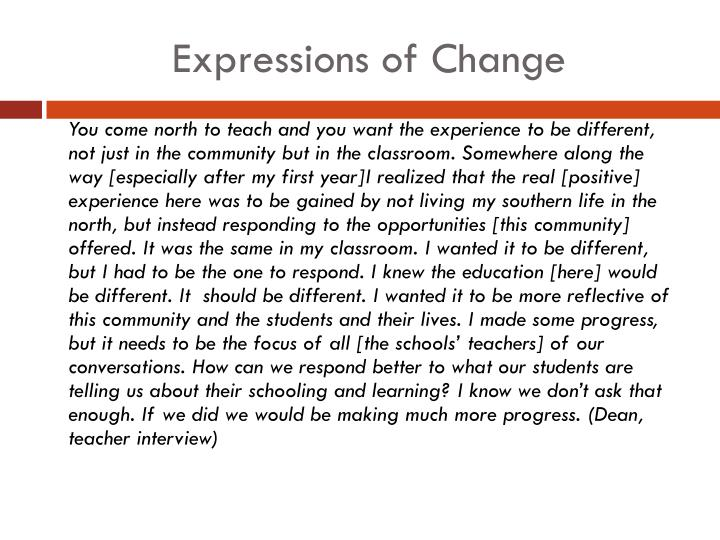Expressions of Change
