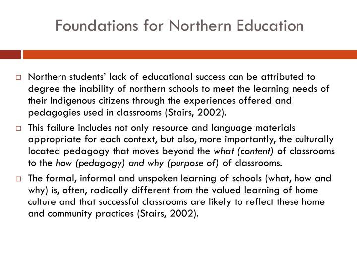 Foundations for Northern Education