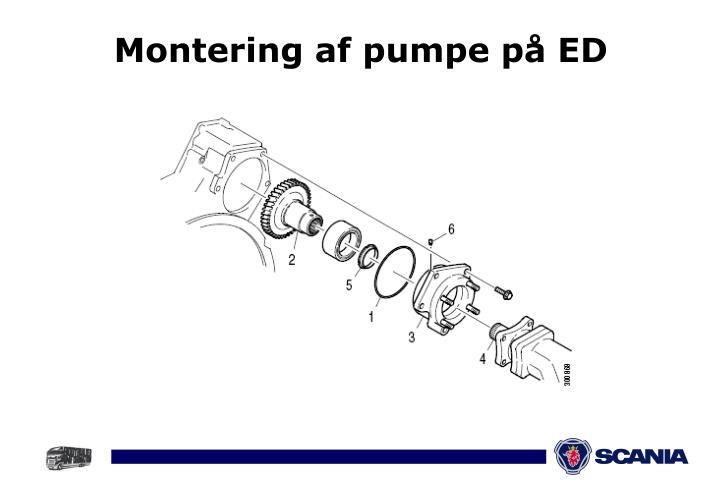 Montering af pumpe på ED