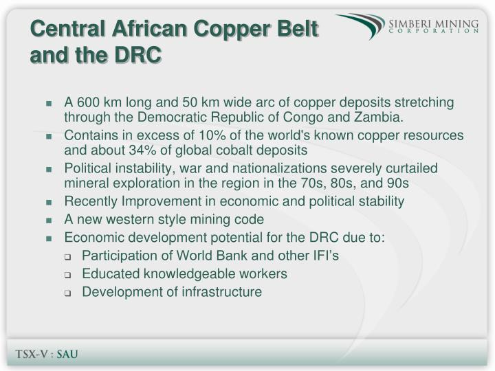 Central African Copper Belt and the DRC