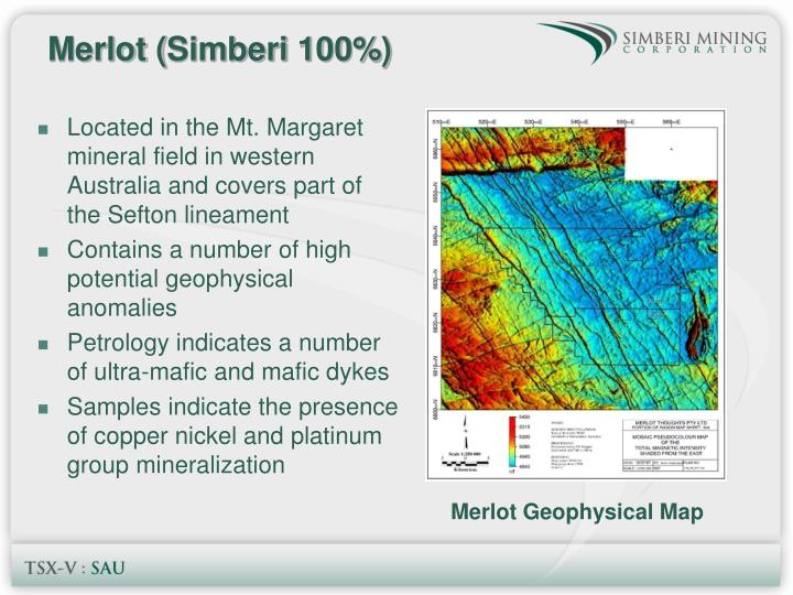 Located in the Mt. Margaret mineral field in western Australia and covers part of the Sefton lineament