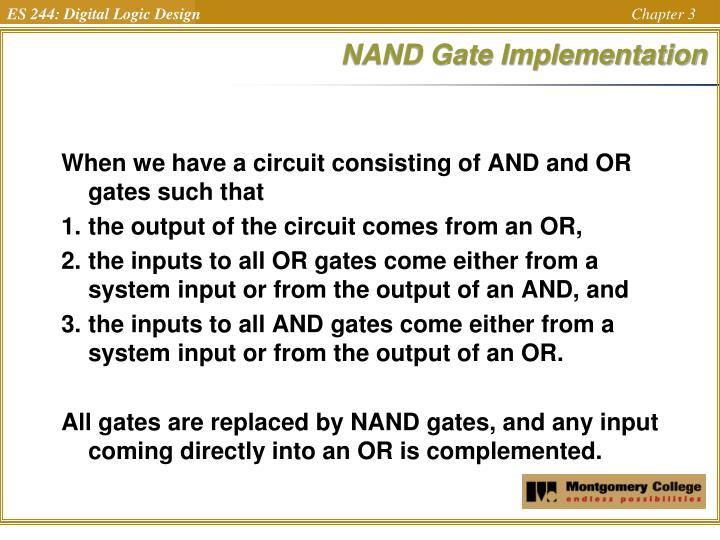 NAND Gate Implementation