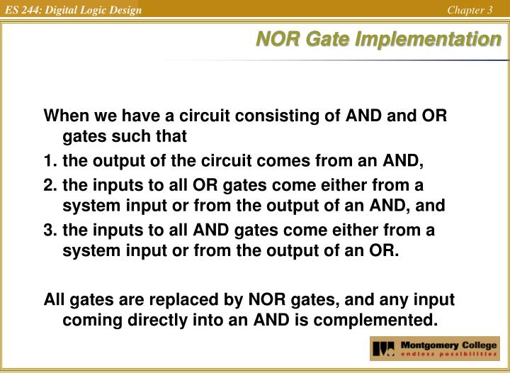 NOR Gate Implementation