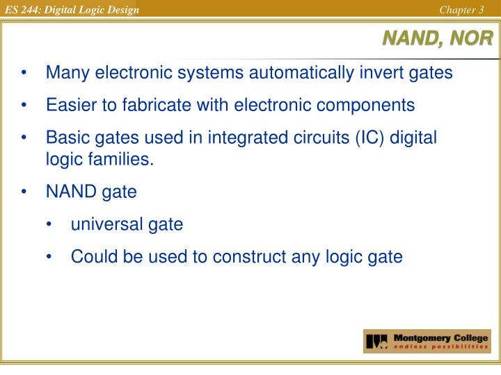 NAND, NOR