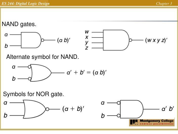 NAND gates.