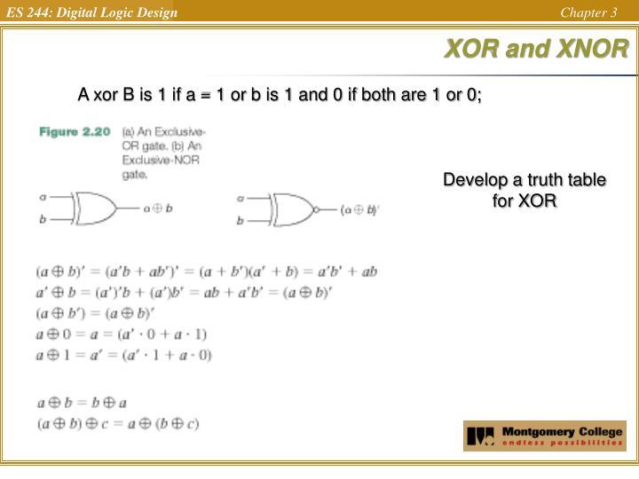 XOR and XNOR
