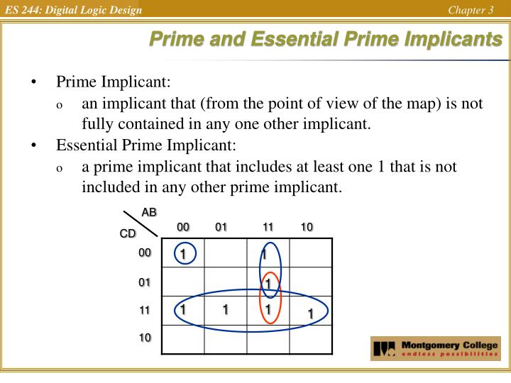Prime and Essential Prime Implicants