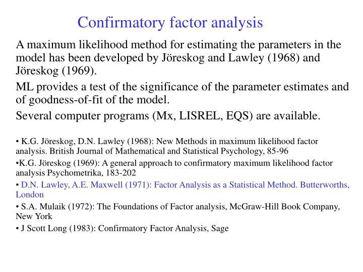 Confirmatory factor analysis