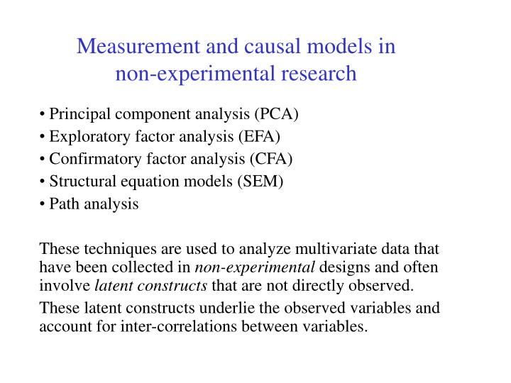 Measurement and causal models in non-experimental research
