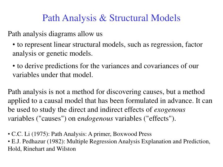 Path Analysis & Structural Models
