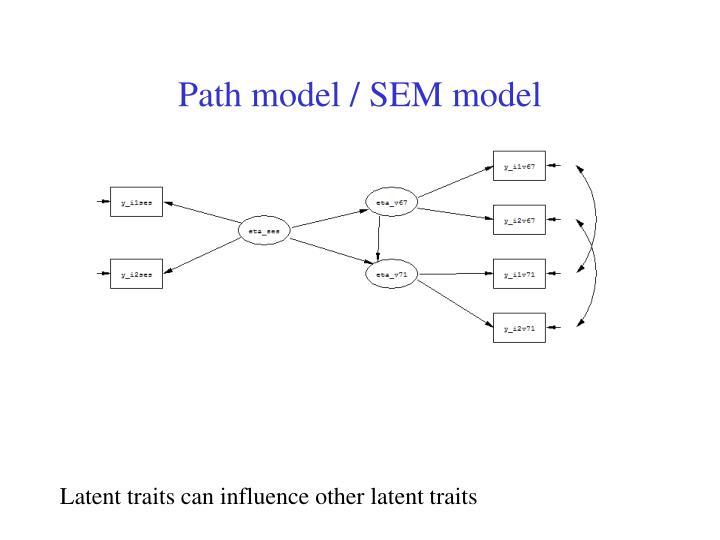 Path model / SEM model
