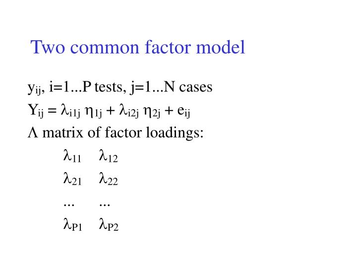 Two common factor model