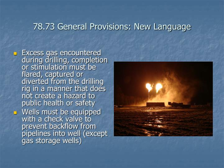 78.73 General Provisions: New Language