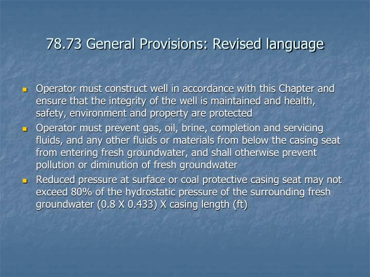 78.73 General Provisions: Revised language