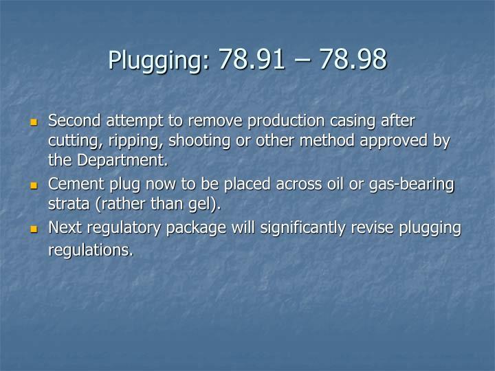 Plugging:
