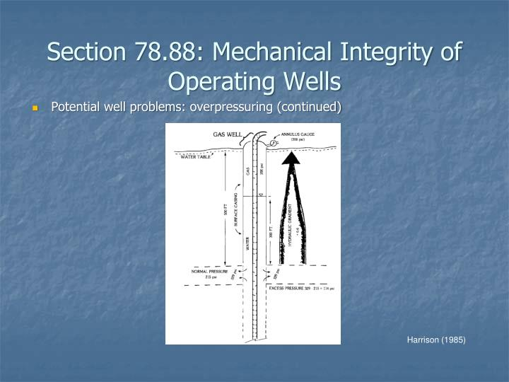 Section 78.88: Mechanical Integrity of Operating Wells