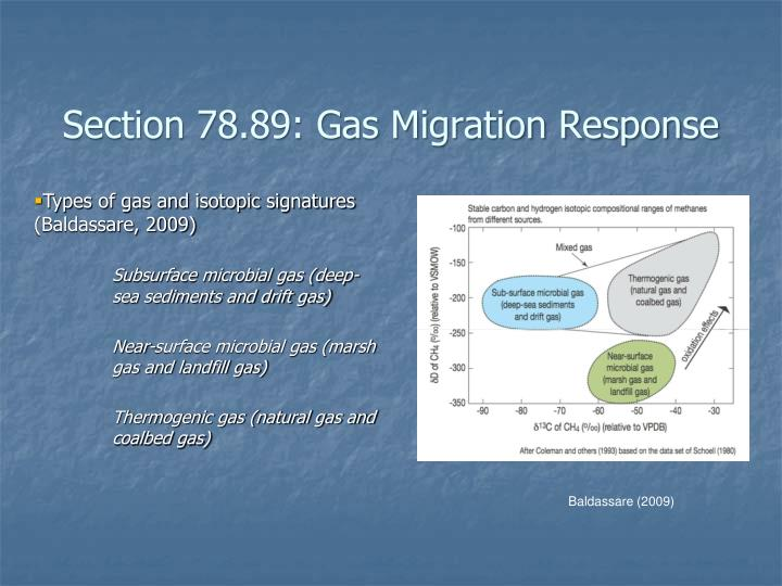 Section 78.89: Gas Migration Response