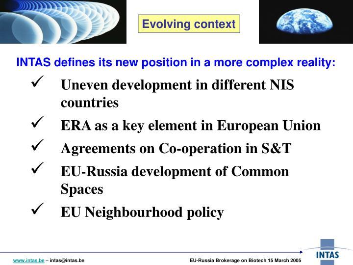 Evolving context