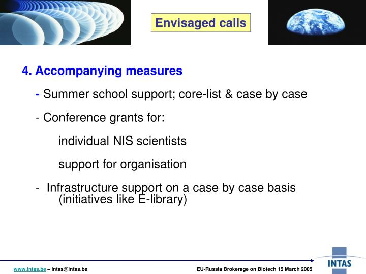 4. Accompanying measures