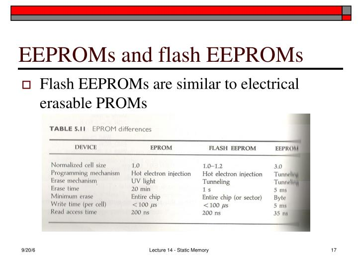 EEPROMs and flash EEPROMs