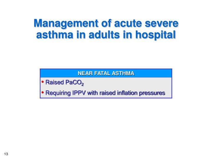 Management of acute severe