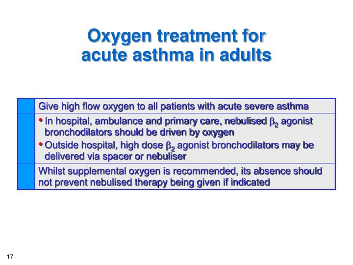 Oxygen treatment for