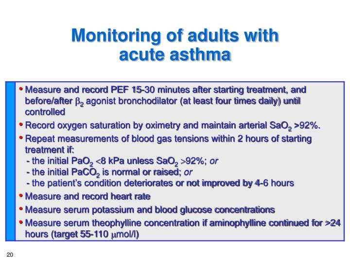 Monitoring of adults with