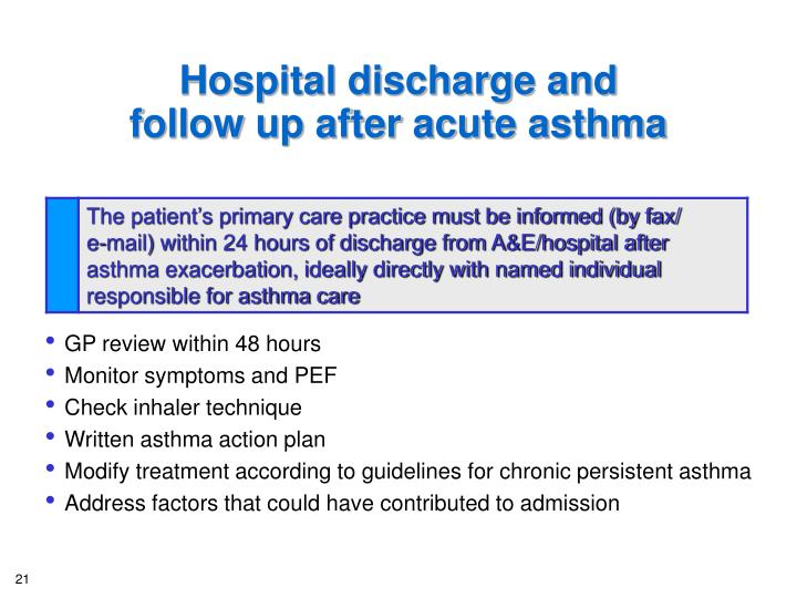 Hospital discharge and