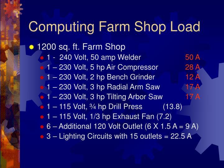 Computing Farm Shop Load