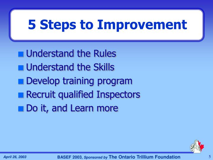 5 Steps to Improvement