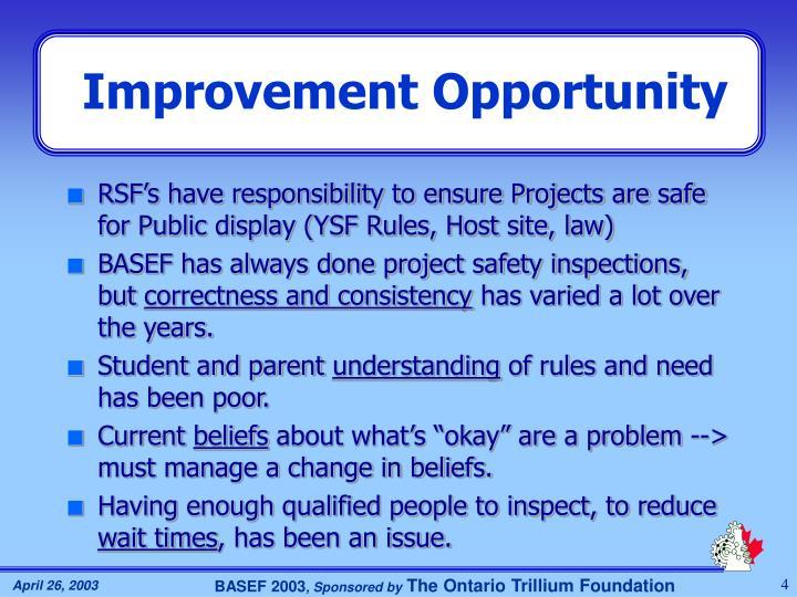 Improvement Opportunity