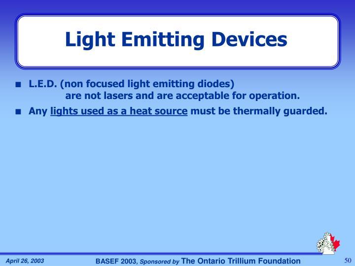 Light Emitting Devices